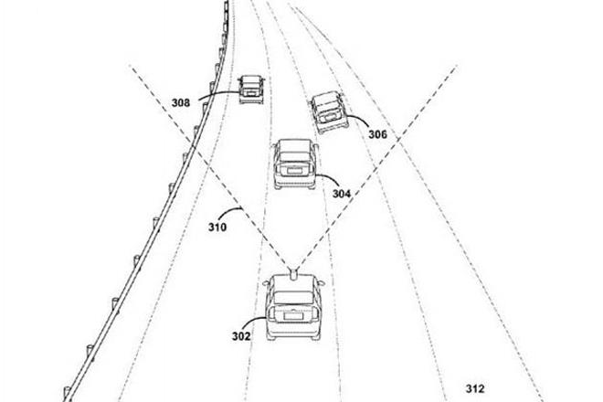 谷歌新专利:自动驾驶车可预测前车行为
