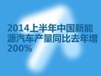 2014上半年中國新能源汽車產量同比去年增200%