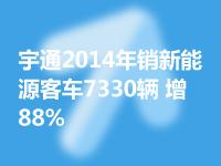 宇通2014年銷新能源客車7330輛 增88%