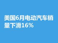【銷量】美國6月電動汽車銷量下滑16%