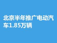 北京半年已推廣電動汽車1.85萬輛