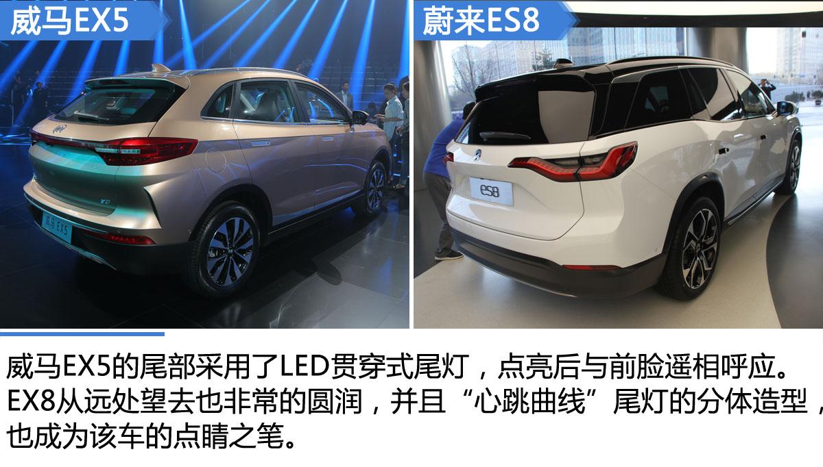 互联网造车新势力 威马EX5对比蔚来ES8