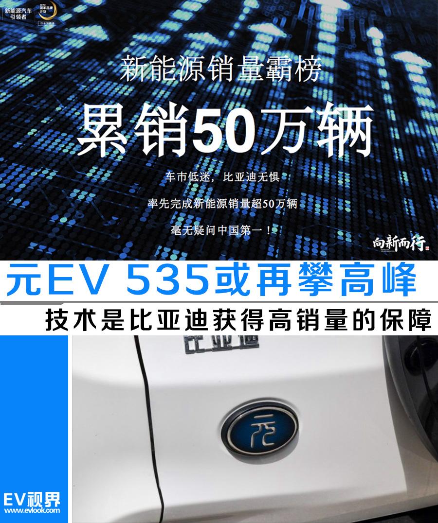 技术是比亚迪获得高销量的保障 新款元EV 535或再攀高峰