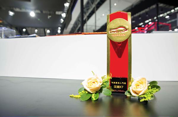 品質制勝 漢騰X7獲2017年度最佳人氣獎