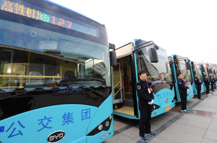 """""""我的公交我的城""""走进蚌埠 比亚迪纯电动客车品质受好评"""