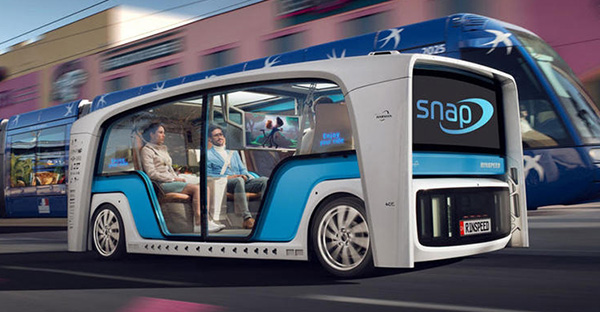 感受未来出行 Rinspeed Snap概念车官图发布