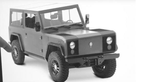 博林格为B1全地形电动大型SUV外观做修改