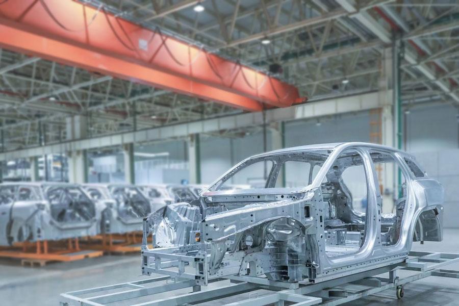 继承ES8全铝车身架构 蔚来ES6白车身信息泄漏