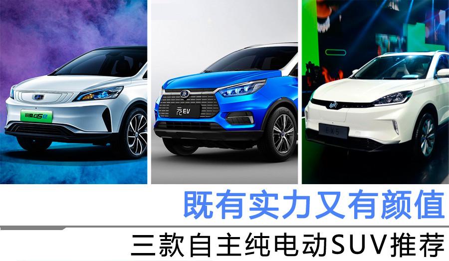 既有实力又有颜值 三款自主纯电动SUV推荐