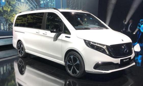 奔馳EQV實車亮相 將在法蘭克福車展發布