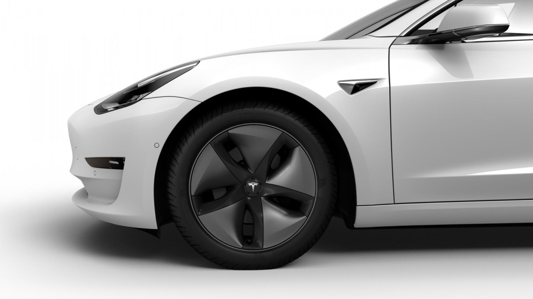 特斯拉Model 3新轮圈样式曝光 可提升5%左右的续航