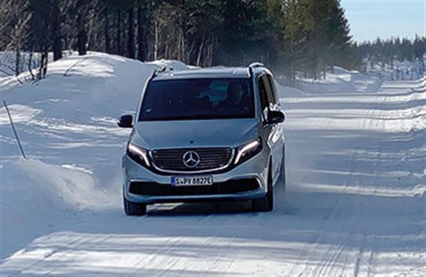 奔驰EQV纯电MPV完成极寒测试 2020年下半年上市