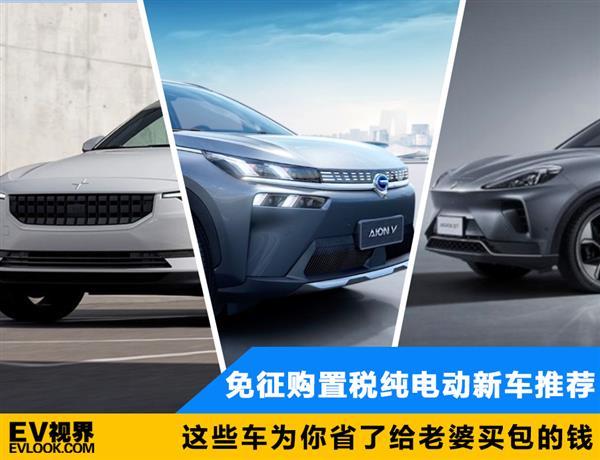 这些车为你省了给老婆买包的钱 免征购置税纯电动新车推荐