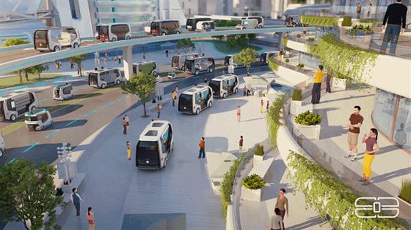 东风汽车科技创新周发布Sharing-VAN无人摆渡车平台规划