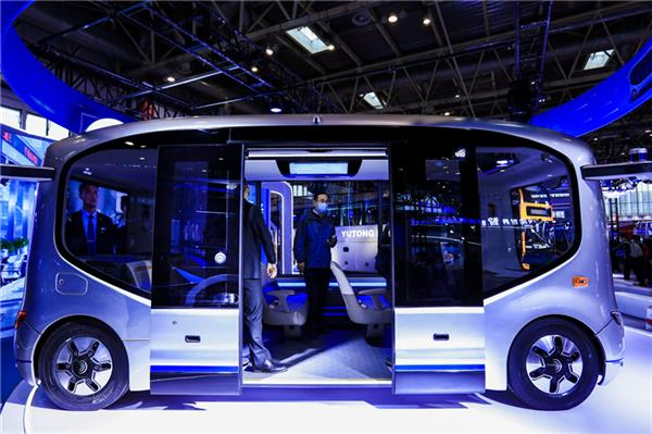 自动驾驶微循环解决方案2.0版发布!宇通最强阵容登陆2020道路运输展