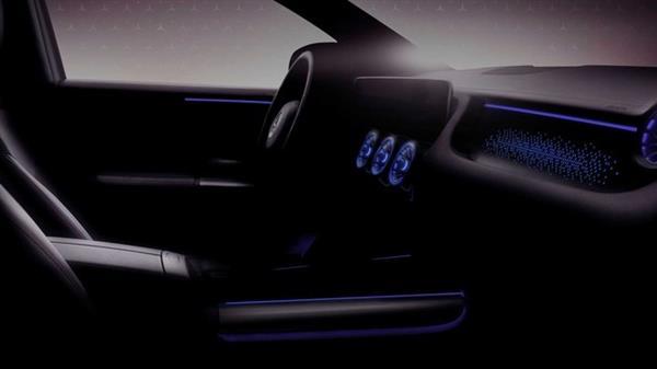 奔驰EQA内饰效果图发布 1月20日正式亮相
