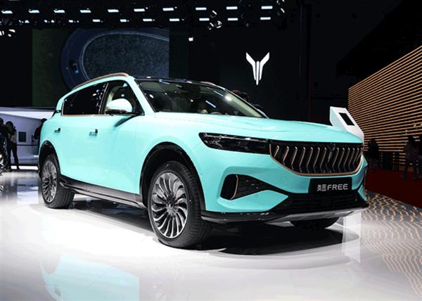 2021上海车展:实拍岚图FREE宝釉蓝、翡翠绿限定版
