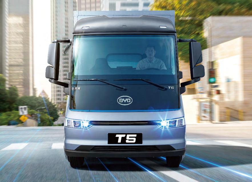 比亚迪全新一代T5纯电轻卡坡道起步测试
