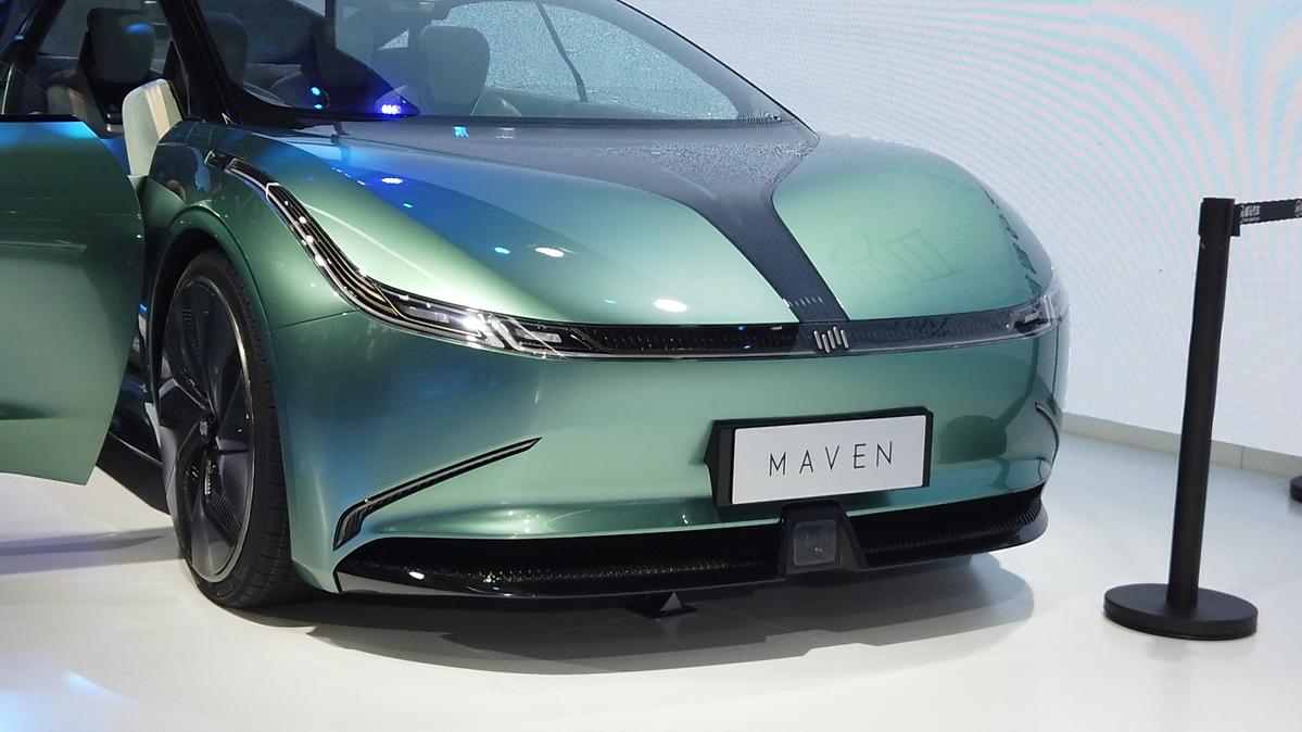 800km续航+L4级自动驾驶,威马纯电概念车Maven实拍