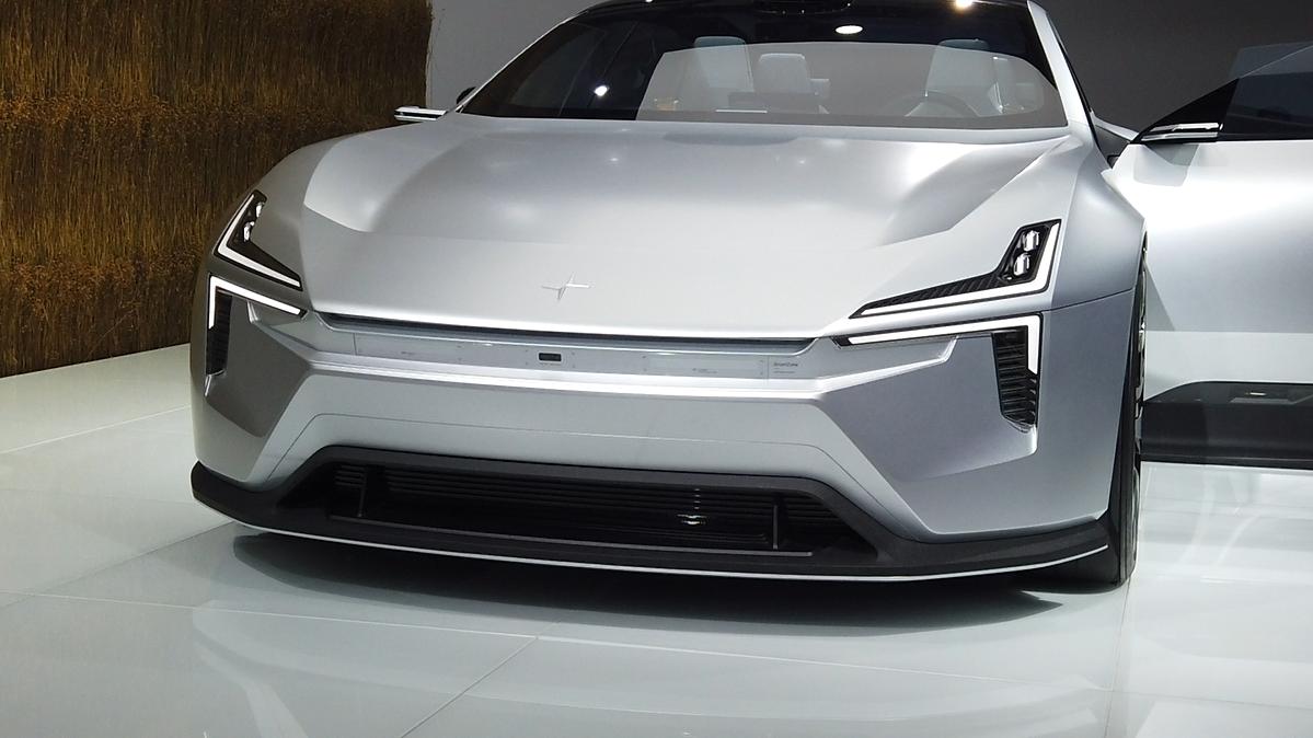 集智能科技环保于一身,极星Precept车展实拍