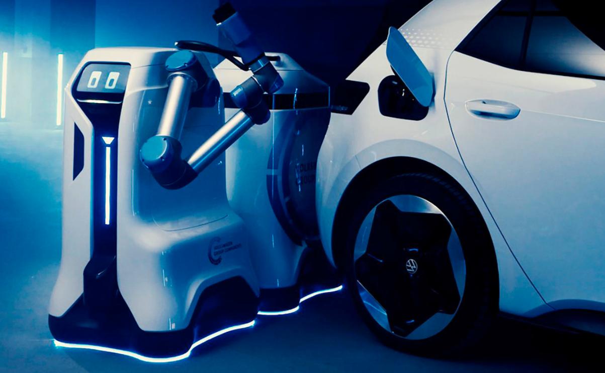 大众电动汽车专用充电机器人——R2D2